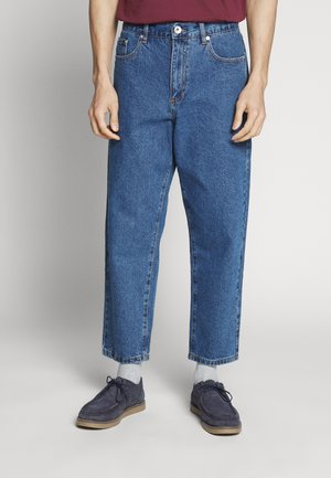 HAWTIN CROP - Džíny Relaxed Fit - vintage wash