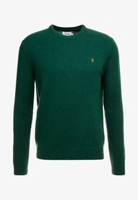 Farah - THE ROSECROFT CREW NECK  - Stickad tröja - bright emerald - 3