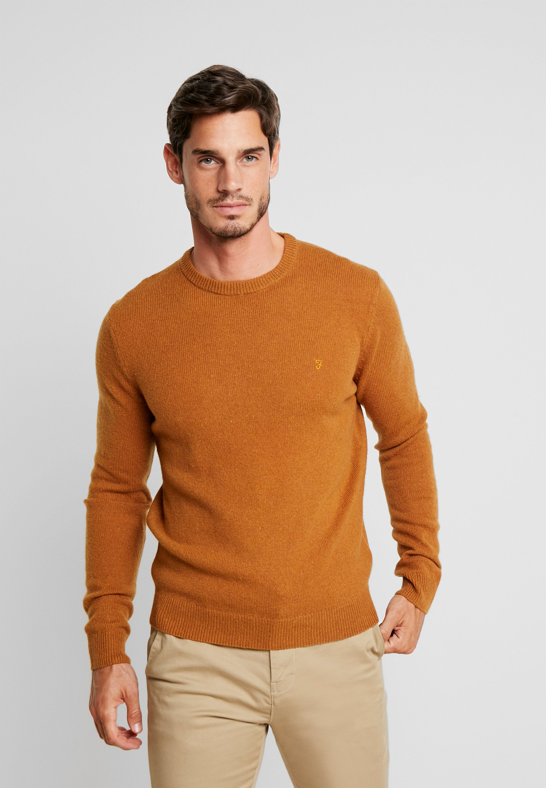Crew NeckPullover Rosecroft Farah The Brown Spanish 54jqA3RL