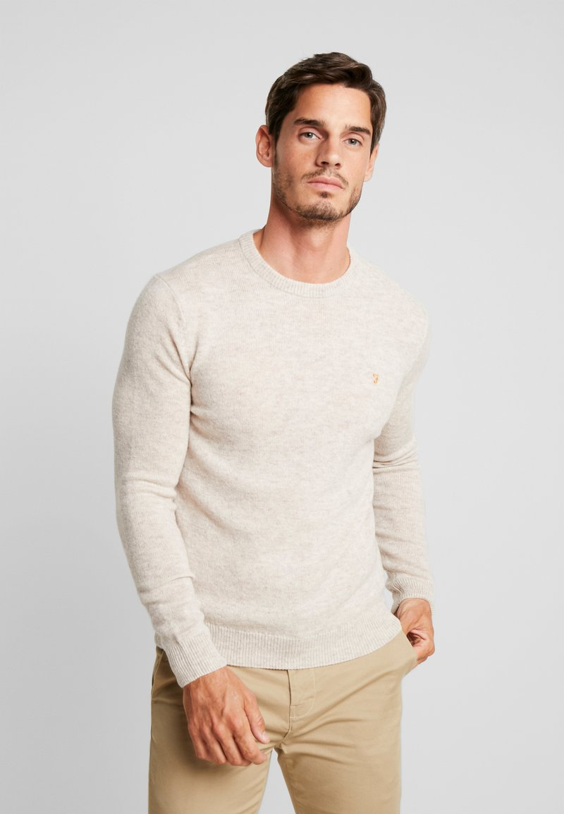Farah - THE ROSECROFT CREW NECK  - Strickpullover - light brown