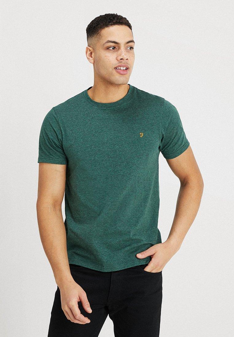 Farah - DENNY MARL SLIM TEE  - T-shirts basic - green lawn marl