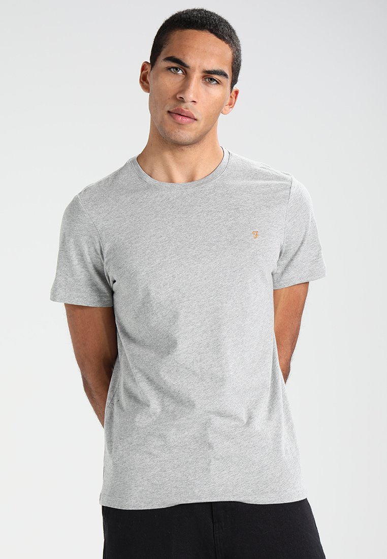 Farah - DENNY SLIM FIT - T-Shirt basic - rain heather