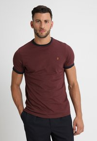 Farah - GROVES - T-shirt basic - bordeaux - 0
