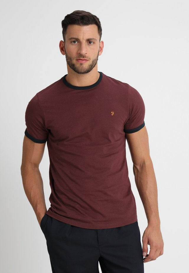 GROVES - T-shirt basic - bordeaux