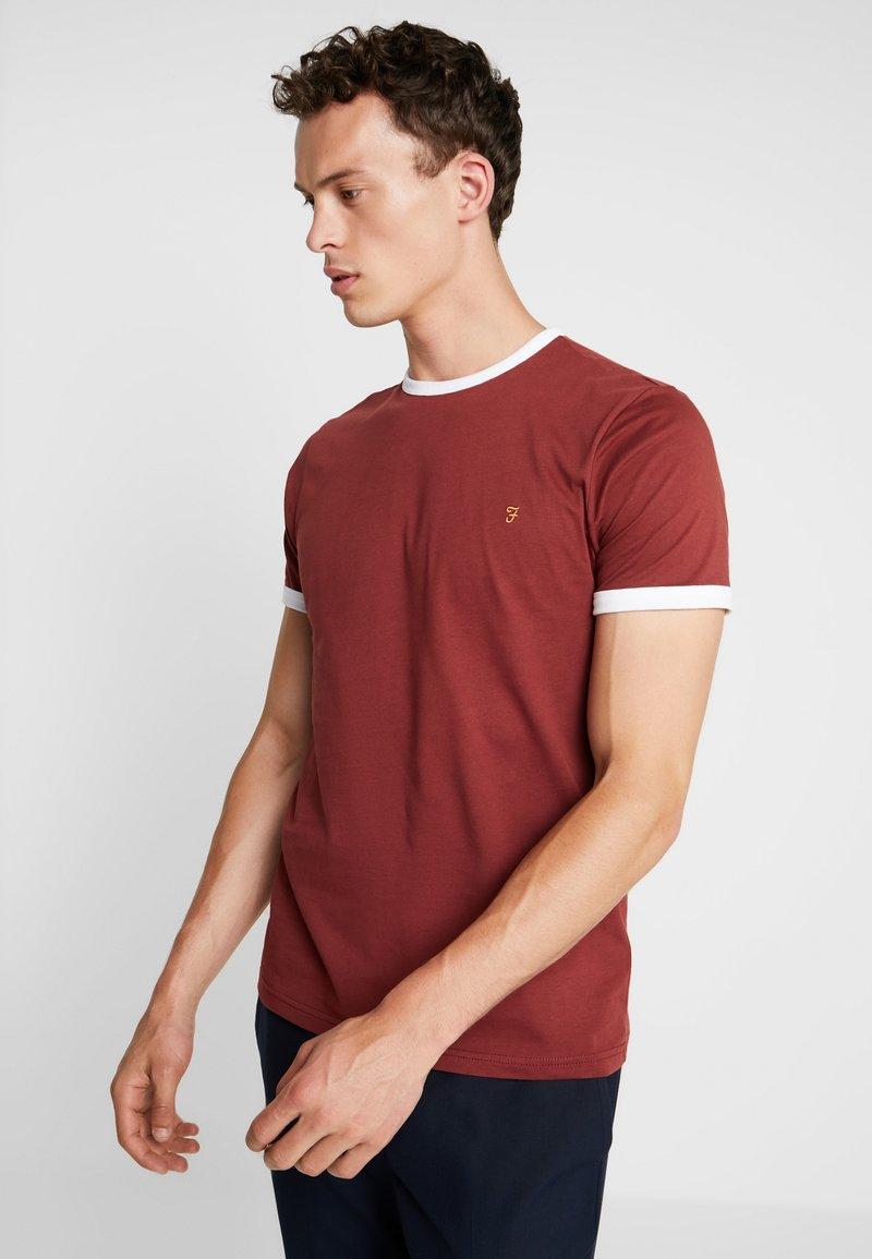 Farah - GROVES - Basic T-shirt - burnt red