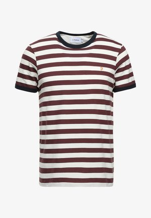 BELGROVE STRIPE TEE - Camiseta estampada - farah red