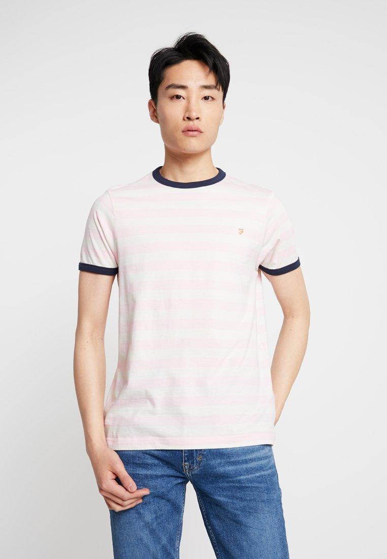 Farah - BELGROVE STRIPE TEE - Print T-shirt - pink haze