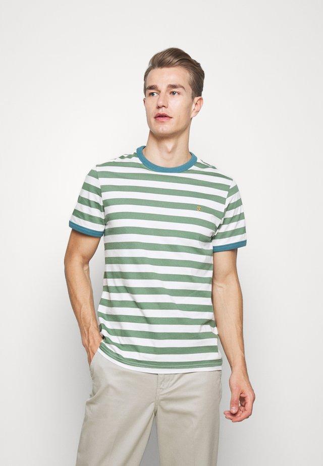 BELGROVE STRIPE TEE - T-shirt z nadrukiem - vine green