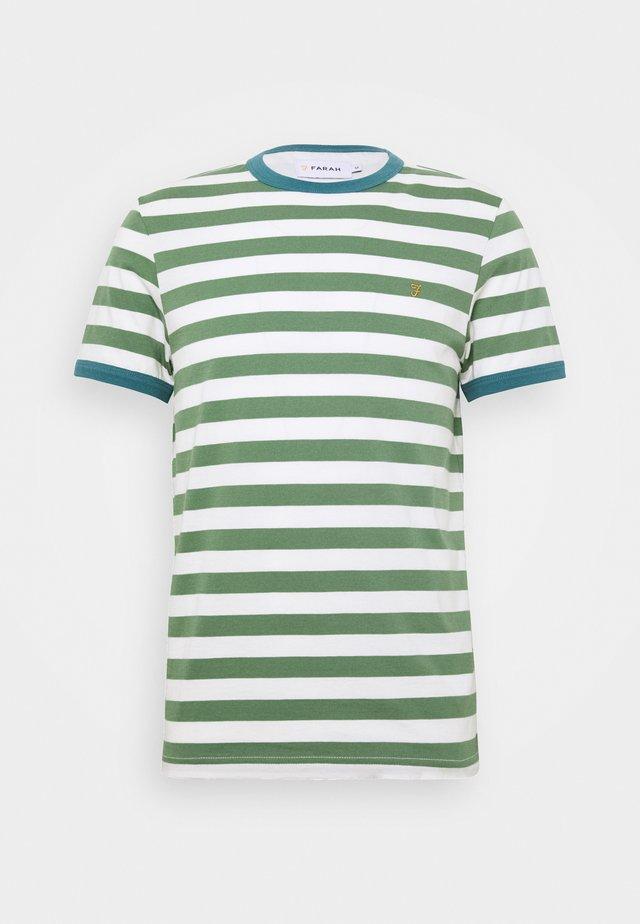 BELGROVE STRIPE TEE - T-Shirt print - vine green