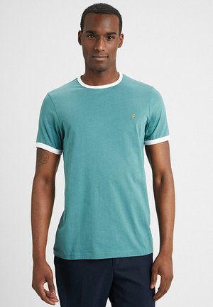 GROVES RINGER TEE - T-shirt - bas - green biscuit