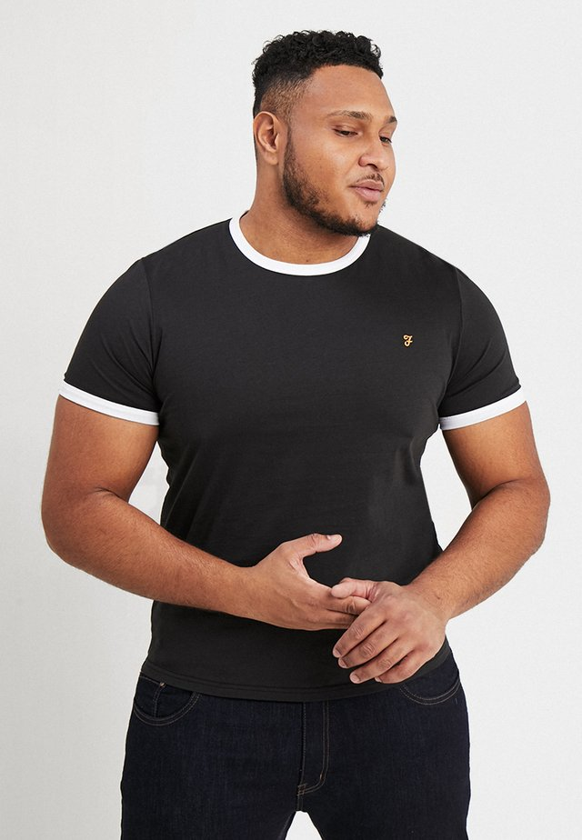 GROVES RINGER TEE - T-shirt - bas - deep black