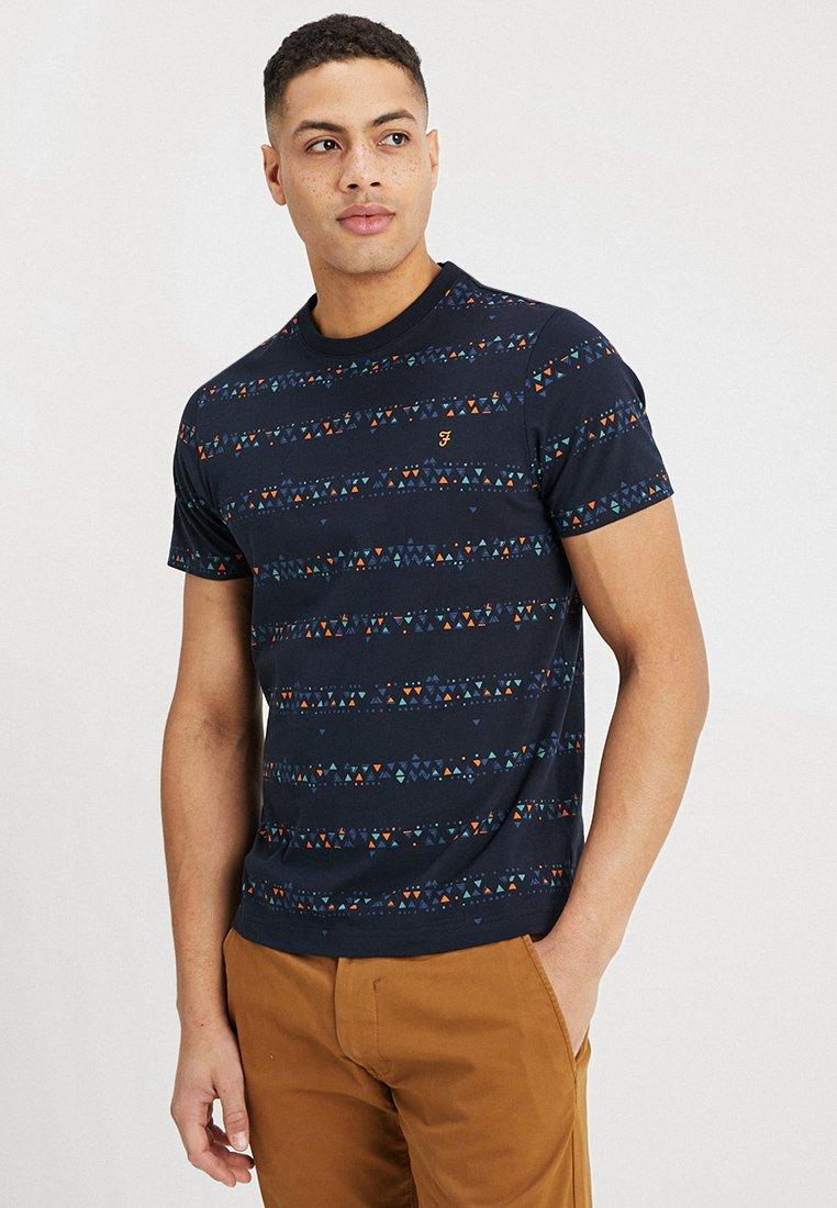 Farah - WILPSHIRE TEE - Print T-shirt - true navy