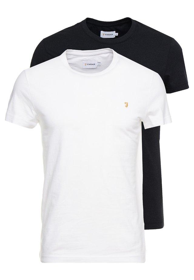 FARRIS TWIN 2 PACK - T-Shirt basic - white/black