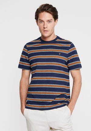 MORGAN STRIPE TEE - Print T-shirt - dark blue
