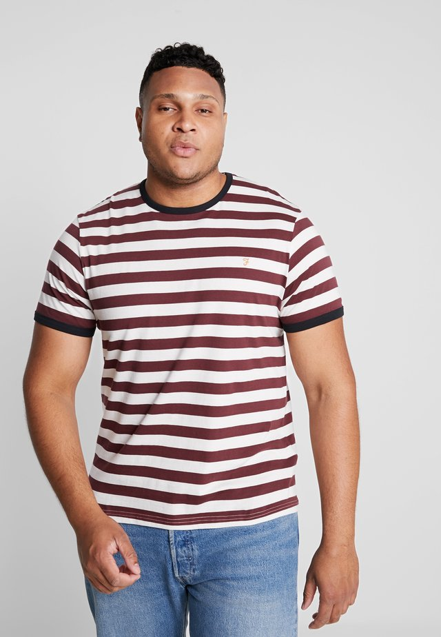 PLUS BELGROVE STRIPE TEE - T-shirt med print - red