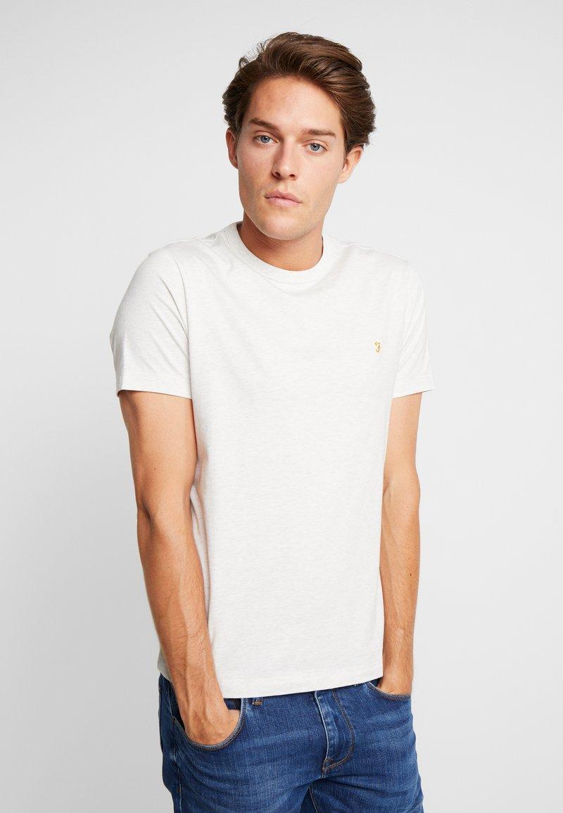 Farah - DENNIS SOLID TEE - Basic T-shirt - chalk marl