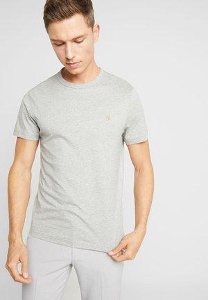 DENNIS SOLID TEE - T-shirt - bas - rain heather