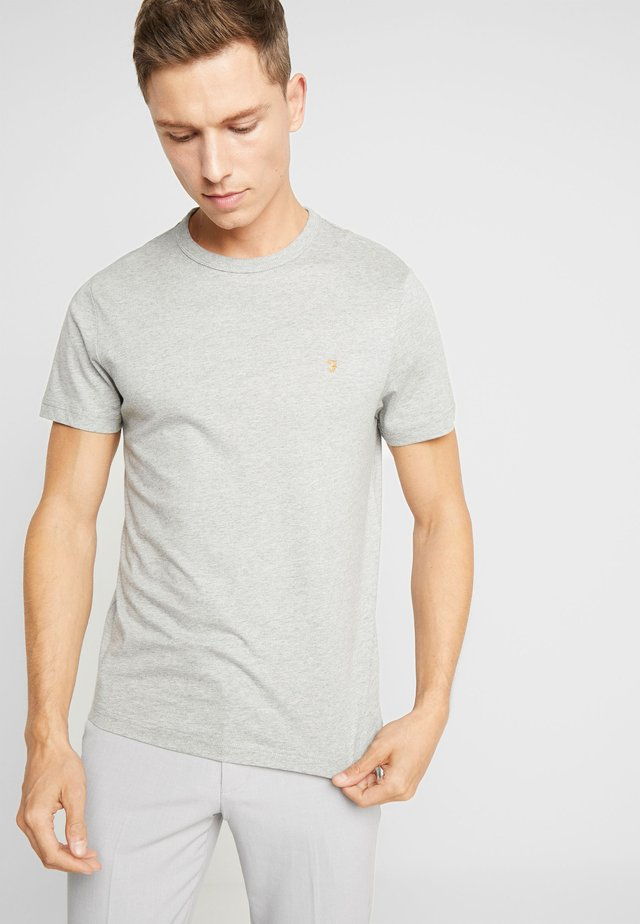DENNIS SOLID TEE - T-shirt - bas - rain heather