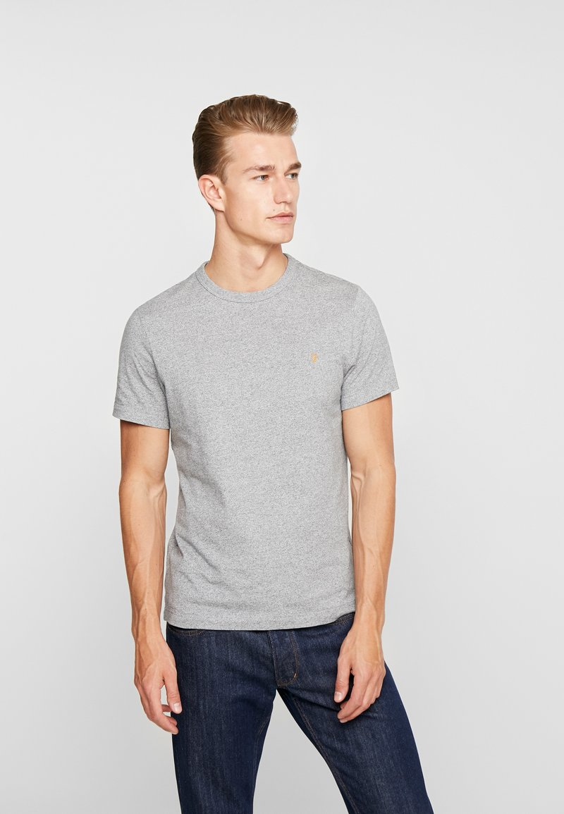 Farah - DENNIS SOLID TEE - Basic T-shirt - gravel marl