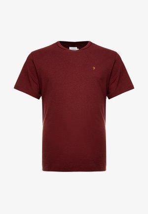 DENNIS SOLID TEE - T-shirt z nadrukiem - mottled red