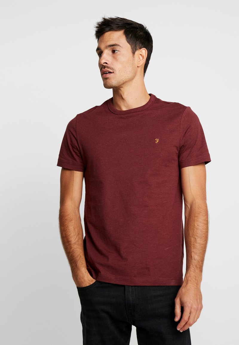 Farah - DENNIS SOLID TEE - T-shirt - bas - mottled red