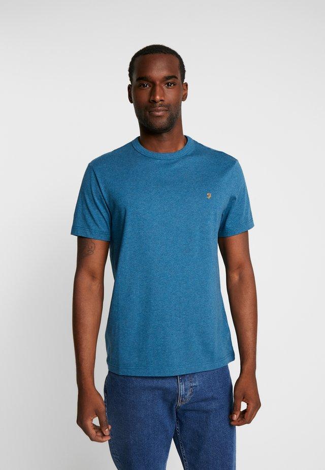 DENNIS SOLID TEE - T-shirt - bas - bright petrol marl