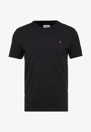 DENNIS SOLID TEE - T-shirt basic - black marl