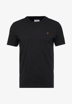 DENNIS SOLID TEE - Jednoduché triko - black marl