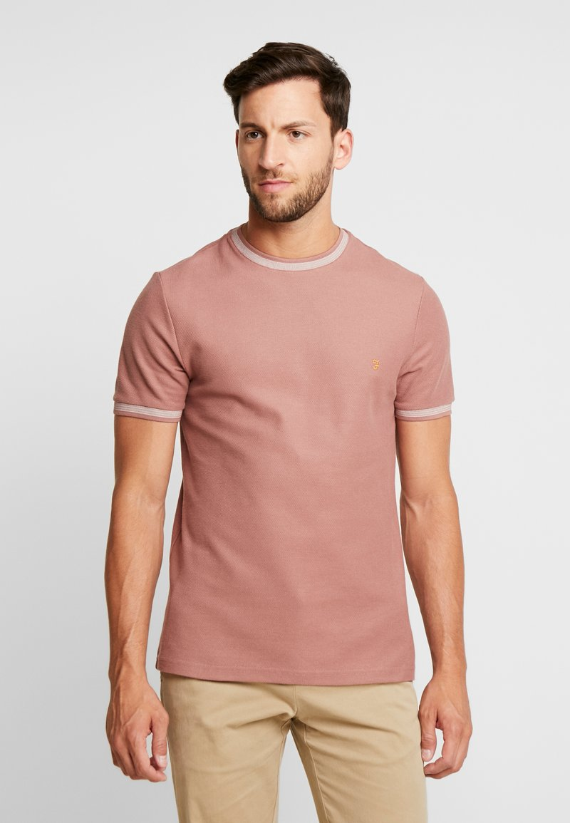 Farah - POTTER TEE - T-shirt basique - dark mauve
