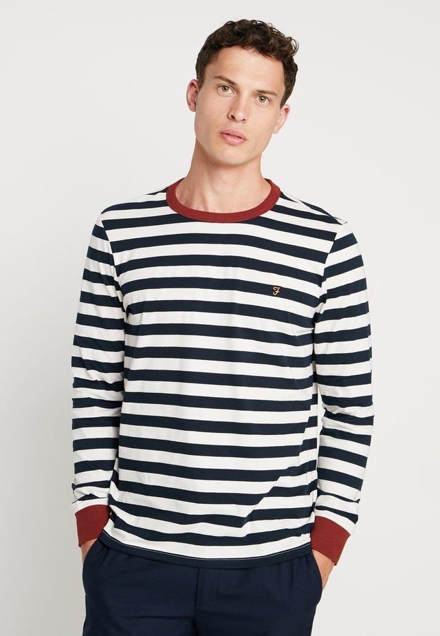 BELGROVE STRIPE TEE - Långärmad tröja - burnt red