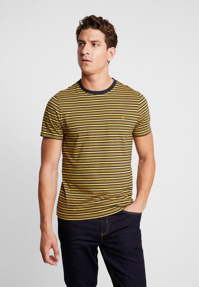 Farah - REETH STRIPE TEE - Print T-shirt - true navy marl