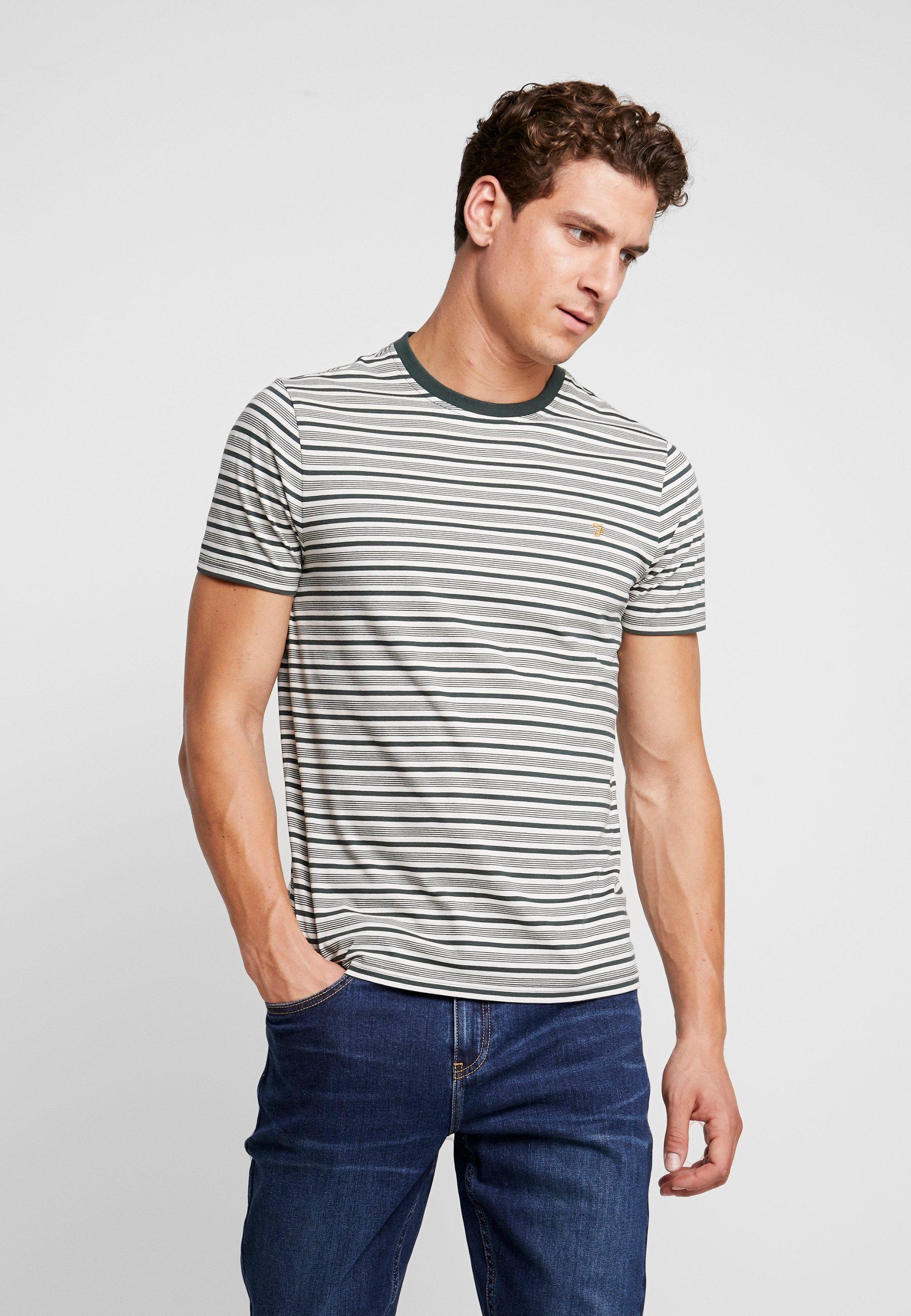 TeeT shirt Olive Deep Farah Stripe Reeth Imprimé xtChrsQd