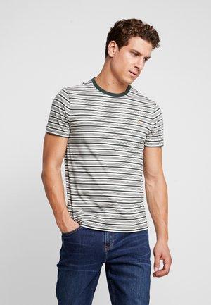 REETH STRIPE TEE - T-shirt print - deep olive