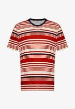 PINSLEY STRIPE TEE - T-shirt imprimé - torch orange