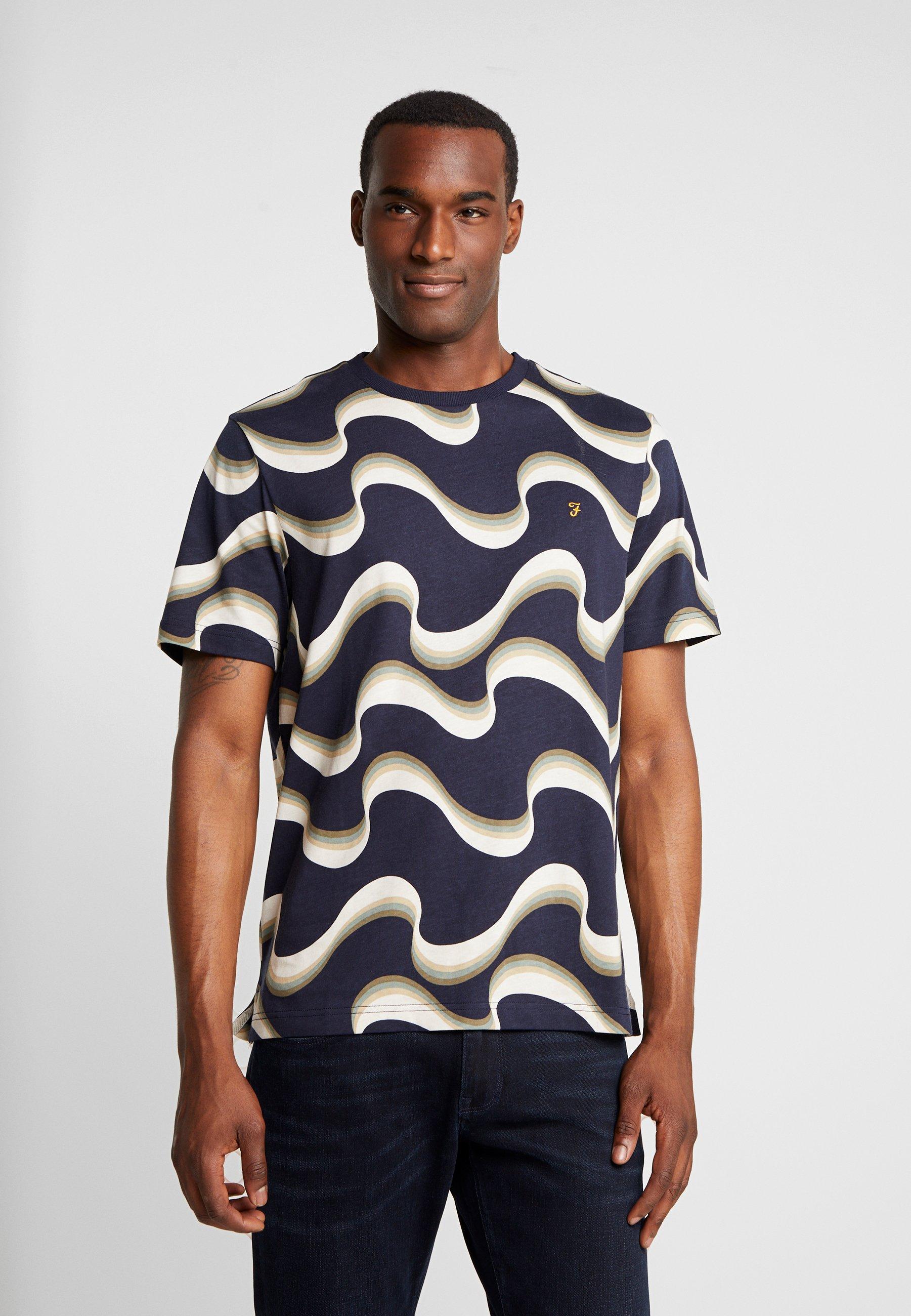 Navy Farah TeeT Imprimé shirt Wavy True UMqSjpGVLz
