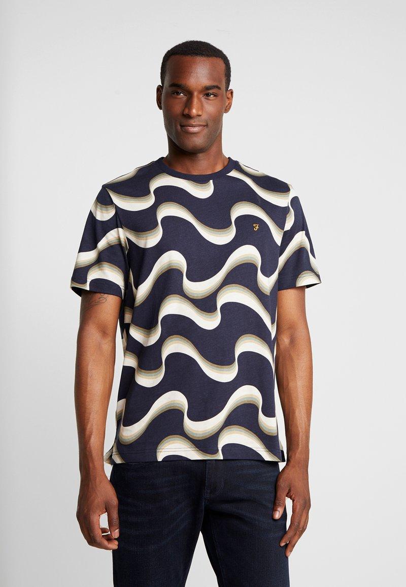 Farah - WAVY TEE - T-Shirt print - true navy