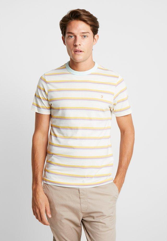 PIPER STRIPE TEE - Print T-shirt - ecru