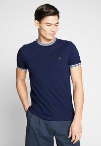 Farah - TEXAS TEE - T-shirt basic - true navy - 0