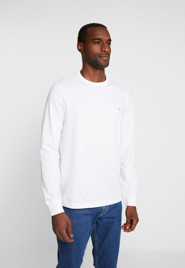 WORTH TEE - Long sleeved top - white