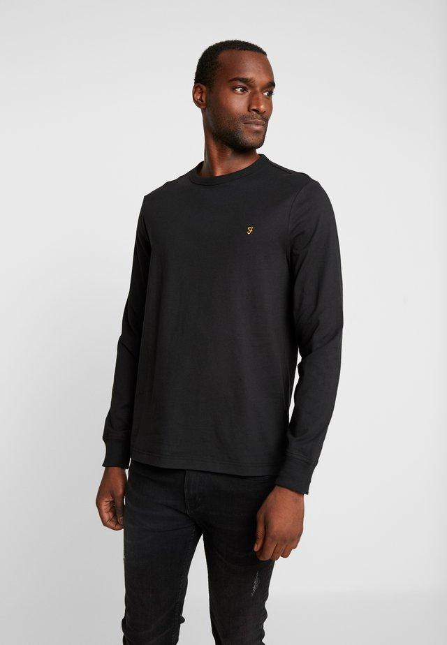 WORTH TEE - Long sleeved top - deep black