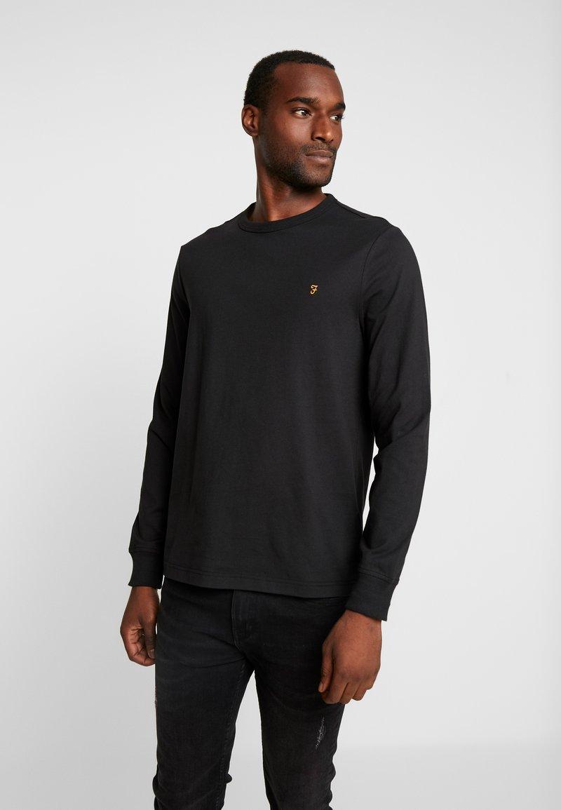 Farah - WORTH TEE - Bluzka z długim rękawem - deep black