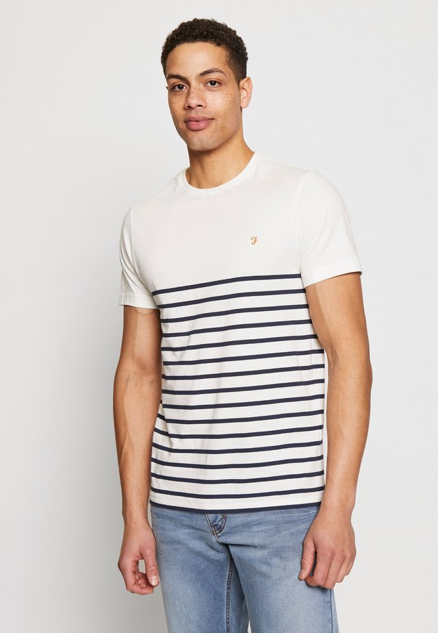 COOK STRIPED TEE - T-shirt med print - dark blue