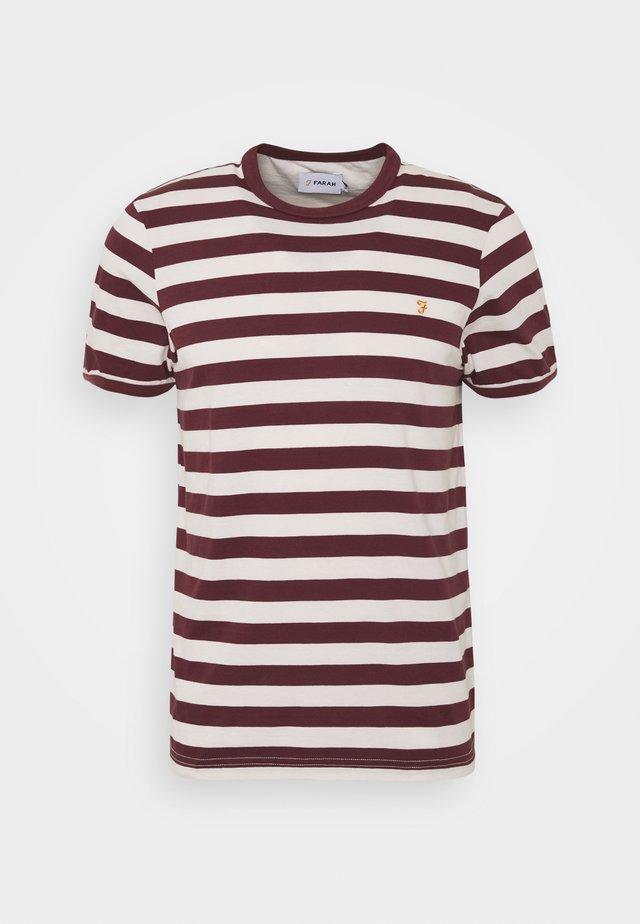 BELGROVE STRIPE TEE - T-shirt print - red