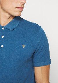 Farah - BLANES  - Koszulka polo - blue grape marl - 4