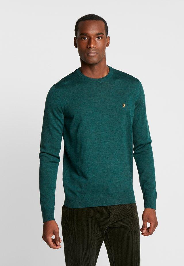 MULLEN CREW SWEATER - Stickad tröja - bright emerald marl