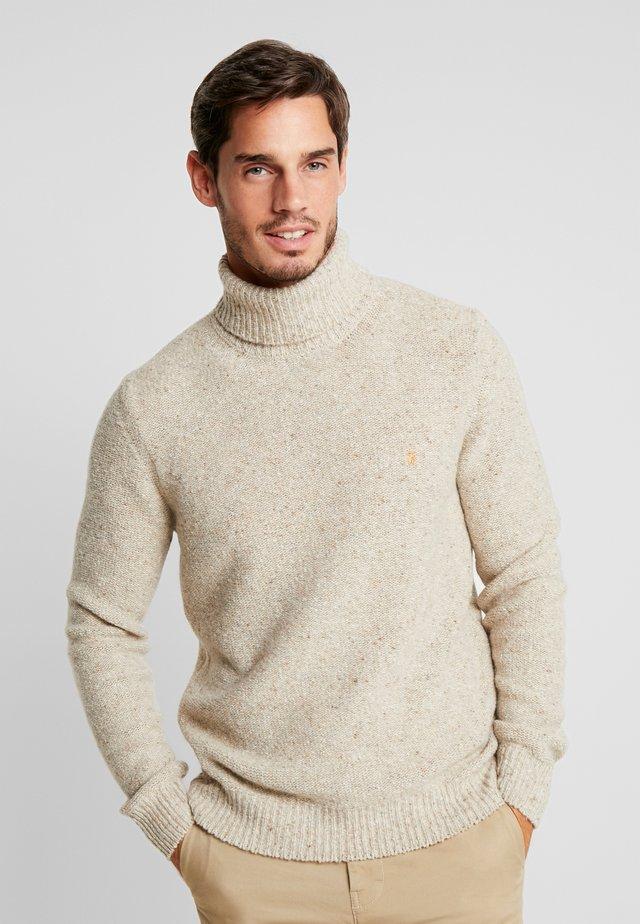 BATTON ROLL NECK - Stickad tröja - light brown