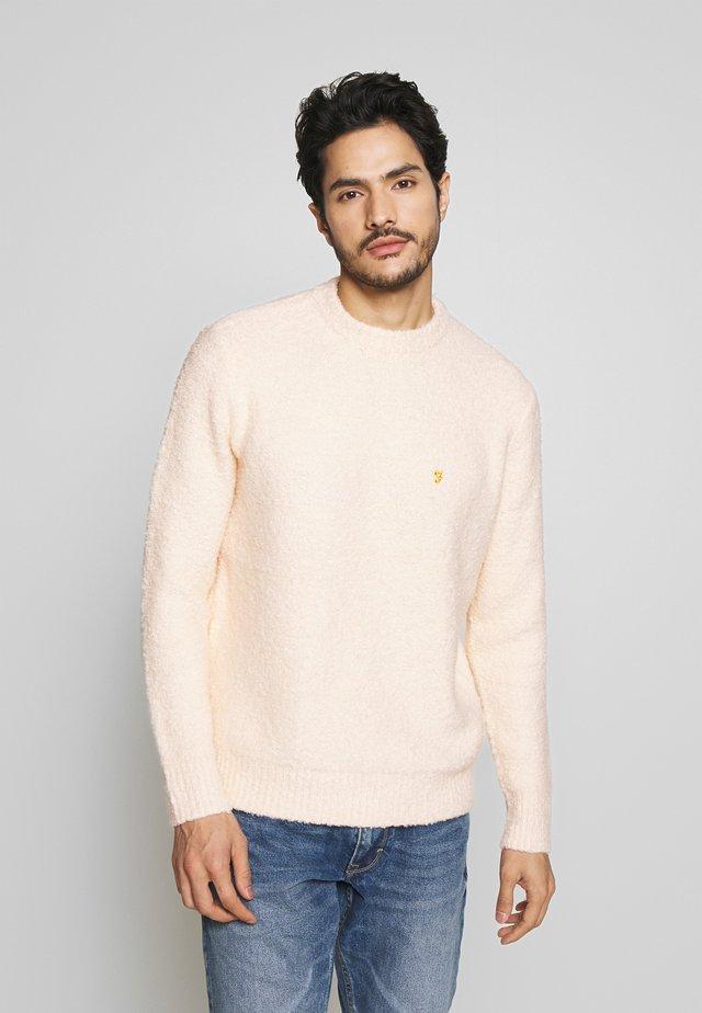 COBHAM CREW NECK - Stickad tröja - cream
