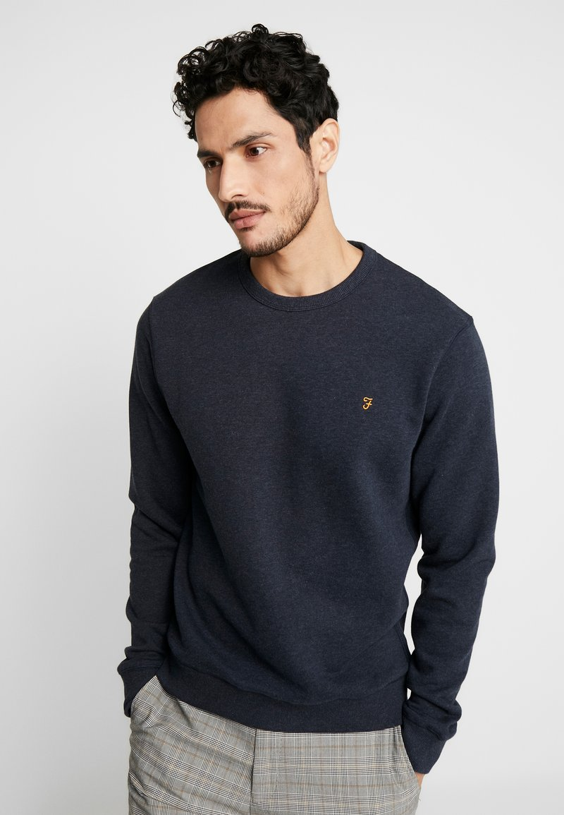 Farah - TIM CREW - Sweatshirt - true navy marl