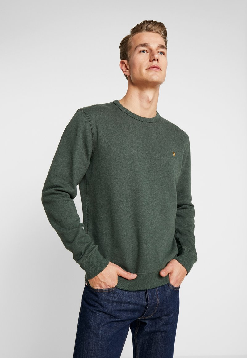 Farah - TIM CREW - Sweatshirt - deep olive marl