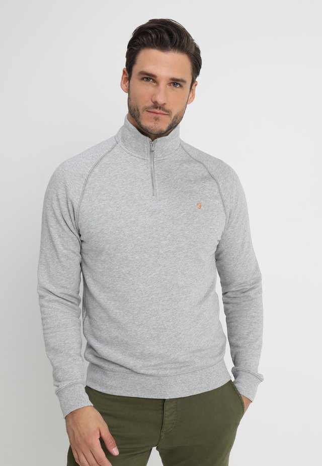 JIM ZIP - Sweatshirt - light grey